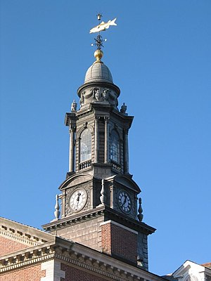 The Albany Academy - The Academy's cupola rises above the main building and is topped with a fish and pumpkin.