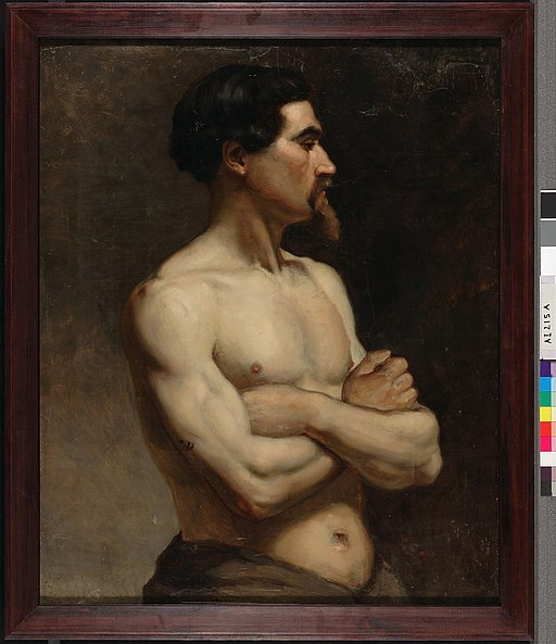 Albert Edelfelt - Male Model, Academy Study - A I 215 A - Finnish National Gallery