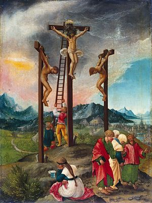 Passion of Jesus - Crucifixion by Albrecht Altdorfer