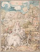 Albrecht Dürer - Mary among a Multitude of Animals, c. 1503 - Google Art Project.jpg
