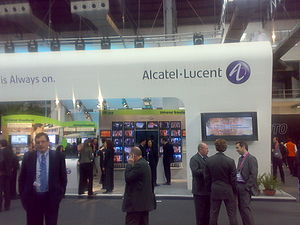 Alcatel stand at GSMA Barcelona 2008