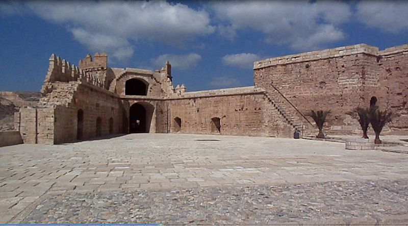 File:Alcazaba of Almeria upper courtyard September 2013.JPG