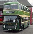 Alder Valley (NBC) bus 611 (GGM 81W) 1980 Bristol VRT SL3 ECW, Aldershot depot, 6 June 1981.jpg