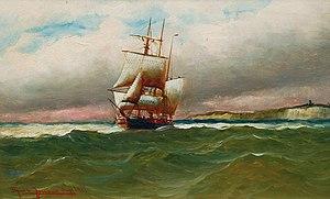 Alfred Jensen - Dreimaster im englischen Kanal (1912).jpg