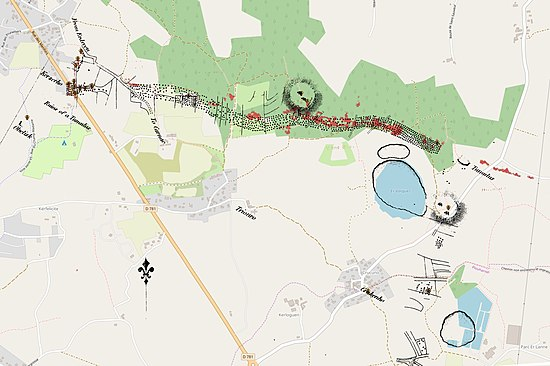 Carte Bretagne Erdeven.Alignements De Kerzerho Wikipedia