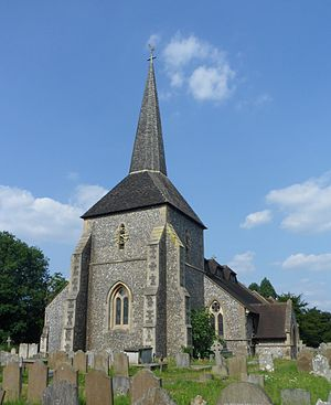 Grade II* listed buildings in Reigate and Banstead - Image: All Saints Church, High Street, Banstead (NHLE Code 1029028)