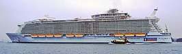 De Allure of the Seas op 29 oktober 2010,