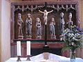Altar in Nicolai church Oberndorf (Arnstadt).JPG