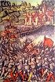 Alter Zürichkrieg - Die Rapperswiler greifen am 22. Mai 1443 die Schwyzer bei Freienbach an und müssen sich zurückziehen, Luzernen Bildchronik des Diebold Schilling, ZB Luzern - Stadtmuseum Rapperswil 2013-01-05 16-32-12-ACD5-.JPG