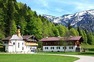 """Kapelle und """"Altes Bad"""" in Wildbad Kreuth"""