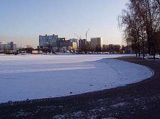 Altufyevsky District - Altufyevo pond in winter, Altufyevsky District
