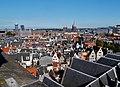Amsterdam Oude Kerk Blick vom Turm aufs Dach 1.jpg