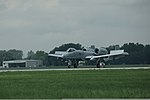 An A-10 Thunderbolt II aircraft, assigned to the U.S. Air Force 107th Fighter Squadron, Michigan Air National Guard, taxis on the flight line at Selfridge Air National Guard Base, Mich., Aug. 10, 2012 120810-F-NJ721-858.jpg