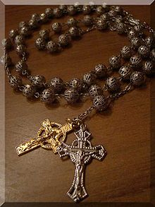 An Egyptian Coptic Style Rosary Featuring Extra Crucifix