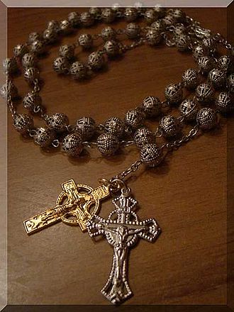Rosary - An Egyptian, Coptic-style rosary featuring an extra Coptic crucifix