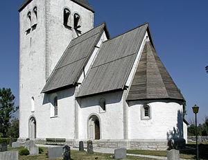 Anga Church, Gotland - Image: Anga kyrka view 2