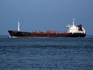 Anna Johanne leaving Port of Rotterdam, Holland.jpg