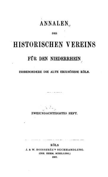File:Annalen des Historischen Vereins für den Niederrhein 82 (1907).djvu