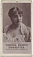 Annie Robe, from the Actresses series (N67) promoting Virginia Brights Cigarettes for Allen & Ginter brand tobacco products MET DP839569.jpg