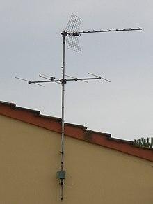 Comuni antenne di tipo Yagi-Uda per la ricezione dei segnali televisivi