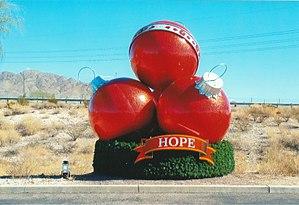 Anthem, Arizona - Traditional giant Christmas decoration in Anthem
