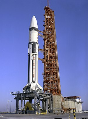 Cape Canaveral Air Force Station Space Launch Complex 37 - Apollo 5 at LC-37B in 1968