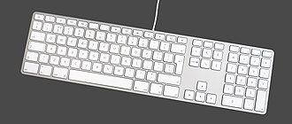 Apple Keyboard - Modern Apple Keyboard with Numeric Keypad (A1243)
