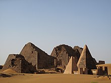 Wide view of Nubian pyramids in Meroë