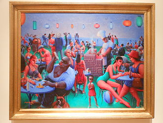Archibald Motley - A painting by Motley with very bright colors