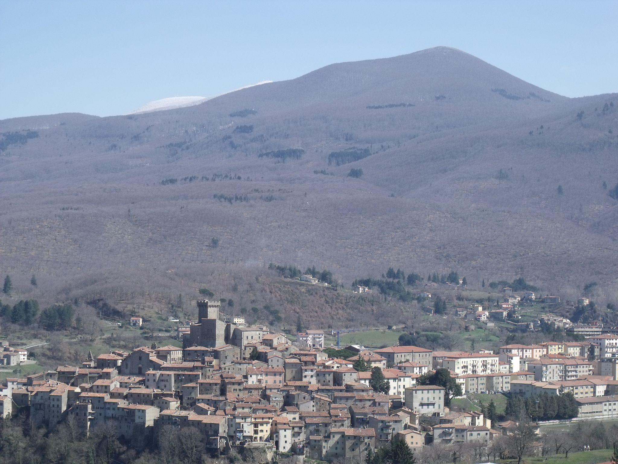 Arcidosso e il Monte Amiata, panorama
