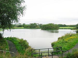Stevenston - The flooded Ardeer Quarry.