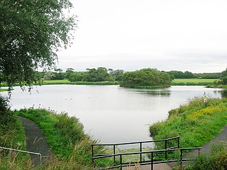 Stevenston - The flooded Ardeer Quarry.