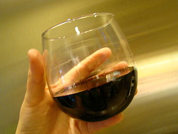 Glass of Malbec wine from Argentine