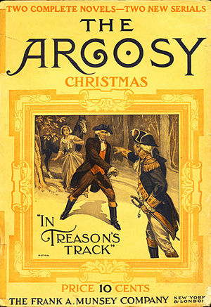 "Albert Payson Terhune - Terhune's ""In Treason's Track"" was the cover story for the December 1910 issue of The Argosy"
