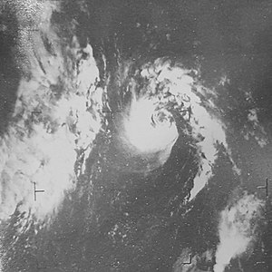 1967 Atlantic hurricane season - Image: Arlene September 3, 1967, 1530Z