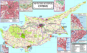 Armenians in Cyprus - Image: Armenian Cyprus map