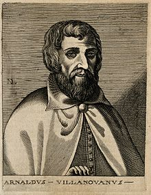 "Arnoldus of Villanova. Line engraving by ""N. D. L."". Wellcome V0000221.jpg"