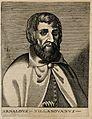 """Arnoldus of Villanova. Line engraving by """"N. D. L."""". Wellcome V0000221.jpg"""