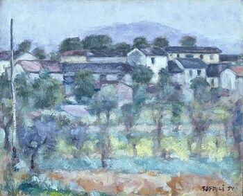 Ardengo Soffici, Veduta serale del Poggio, 1952 (Fondazione Cariplo).