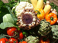 Artichoke, artichoke flower, peppers, cabage, cauliflower, DSCF1622.jpg