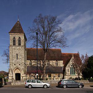 Ashford, Surrey - Image: Ashford St Matthew SSW