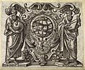 Astronomy; figures of Euclid and Ptolemy with a cosmological Wellcome V0024827.jpg