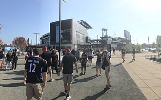 Audi Field - The entrance to Audi Field before the opening match on July 14, 2018.