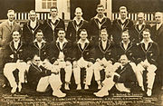 The 1930 team. Bradman is second from the right, middle row.