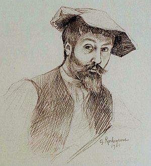 Georges Rochegrosse - Rochegrosse, Self-portrait, 1908.