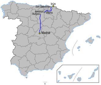 Autovía A-1 - Image: Autoviaesp a 1