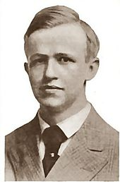 Black and white portrait photo of Avery Hopwood