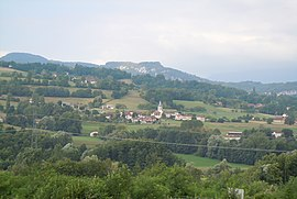 A general view of Avressieux