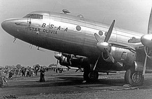 "British South American Airways - BSAA Tudor 4B ""Star Olivia"" in 1949"