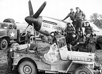 16th Airborne Command and Control Squadron - 380th Fighter Squadron P-51 at Azeville Airfield